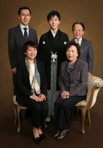 成人式 紋付き袴 家族写真
