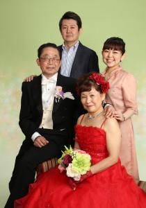 還暦ドレスフォト 家族写真