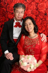 還暦 赤 ドレス 写真